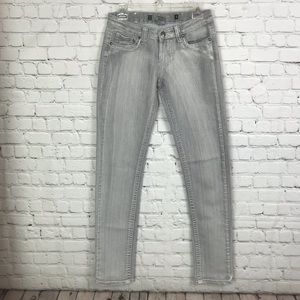 Rampage Gray Faded Skinny Jean Size 3